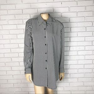 Plenty By Tracy Reese Striped Button Down Blouse